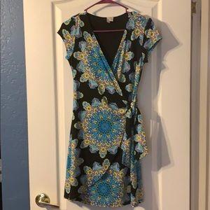 Patterned Side-Tie Petite Dress
